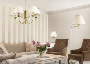 Klasyczne Lampy Sufitowe Salon Z Lampami